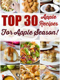 Top 30 Apple Recipes for Apple Season! | ASpicyPerspective.com #fall