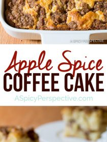 Apple Spice Coffee Cake | ASpicyPerspective.com