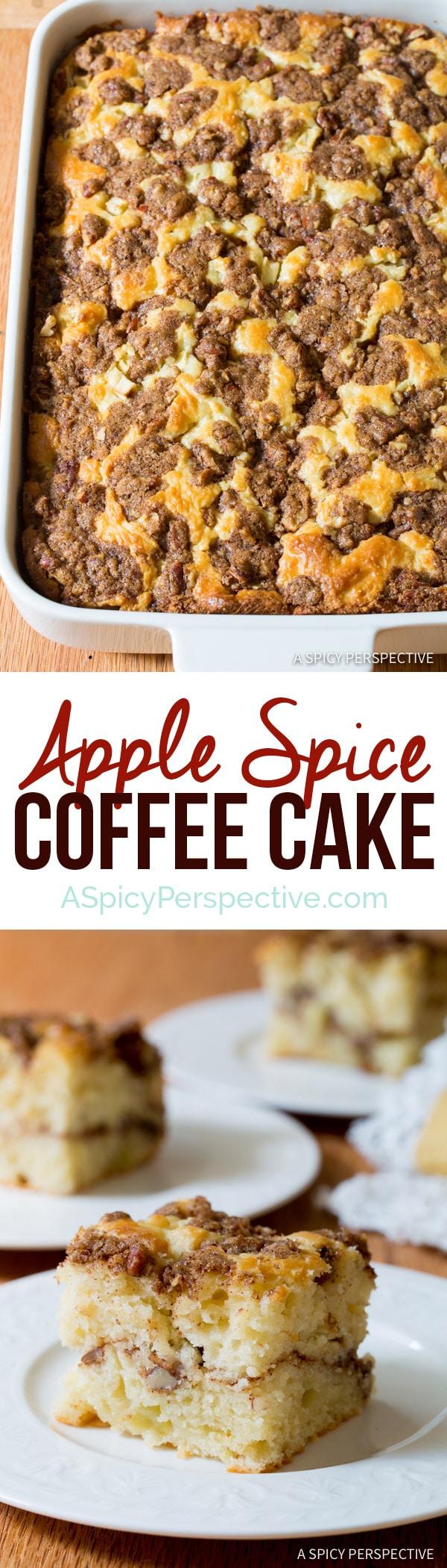 Apple Spice Coffee Cake   ASpicyPerspective.com