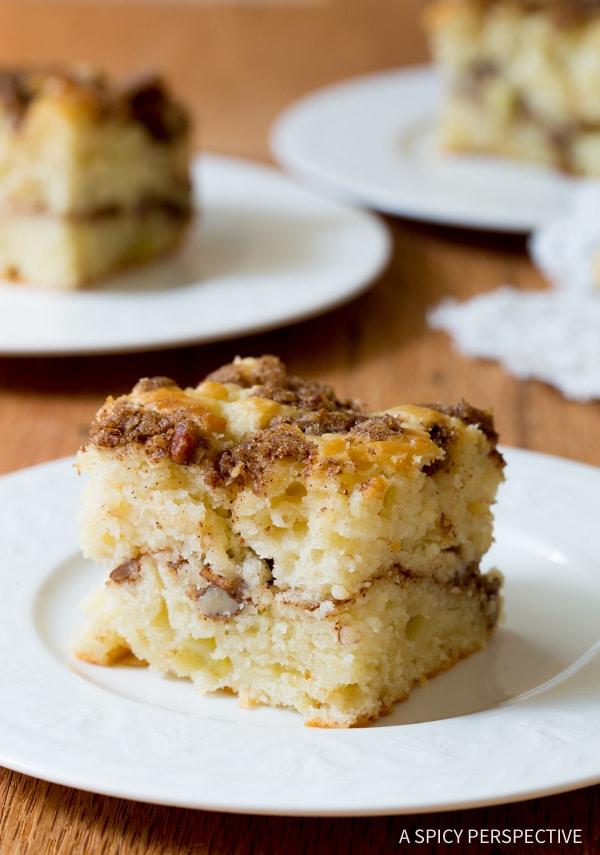 Fabulous Apple Spice Coffee Cake | ASpicyPerspective.com