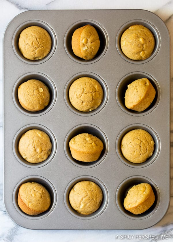 Apple Spice Cornbread Muffins Recipe | ASpicyPerspective.com
