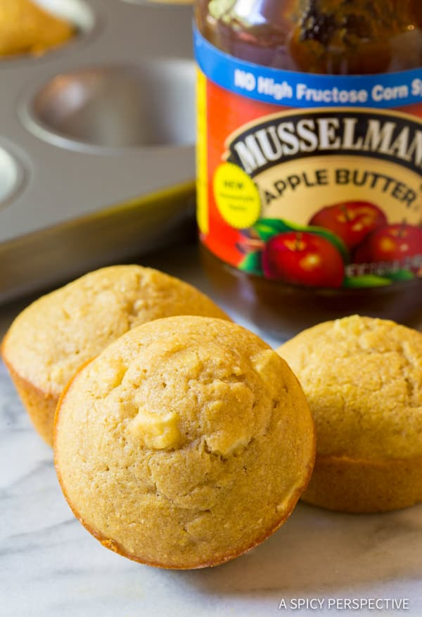 Amazing Apple Spice Cornbread Muffins Recipe | ASpicyPerspective.com