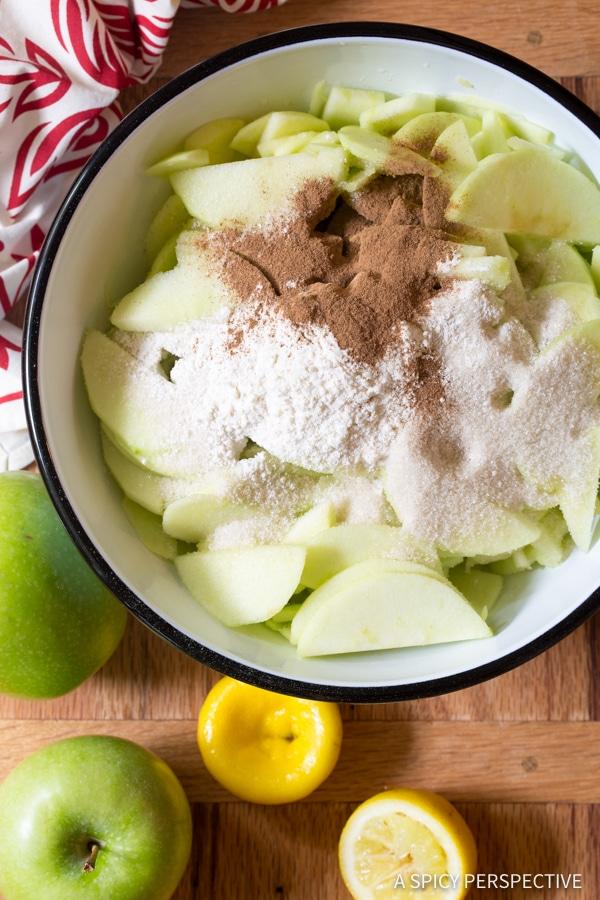 Easy to Make Caramel Apple Slab Pie | ASpicyPerspective.com