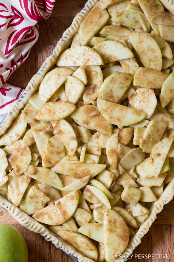 Easy Caramel Apple Slab Pie | ASpicyPerspective.com
