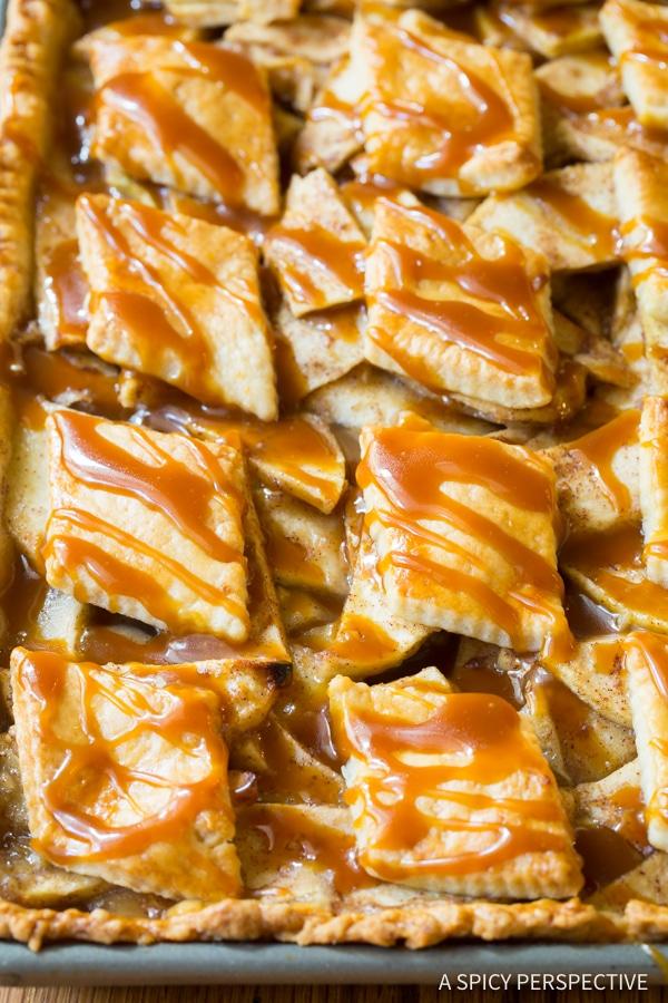 Best Caramel Apple Slab Pie   ASpicyPerspective.com