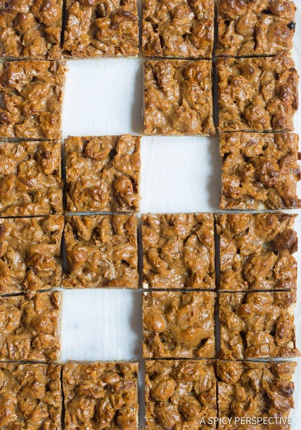 Dazzling Caramel Pecan Pie Bars Recipe | ASpicyPerspective.com