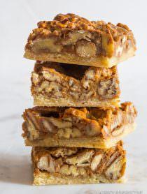 Awesome Caramel Pecan Pie Bars Recipe | ASpicyPerspective.com