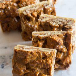 Caramel Pecan Pie Bars   ASpicyPerspective.com