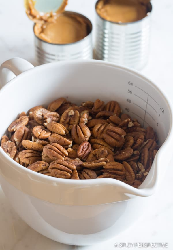 How to Make Caramel Pecan Pie Bars Recipe | ASpicyPerspective.com