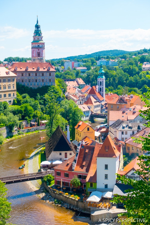 Cesky Krumlov Village - Amazing Day Trips from Prague | ASpicyPerspective.com #travel #europe