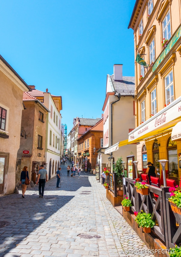 Walking Cesky Krumlov - Amazing Day Trips from Prague | ASpicyPerspective.com #travel #europe