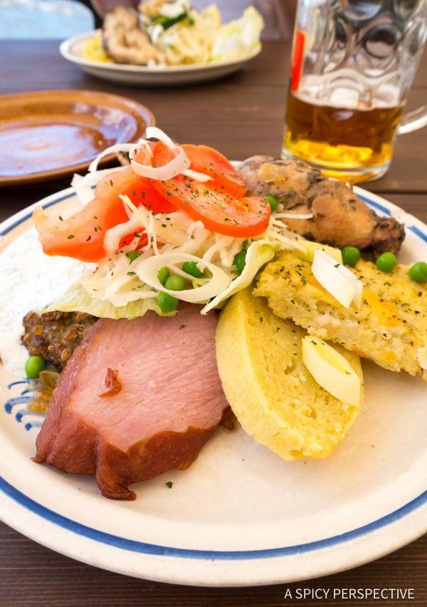 Cesky Krumlov Dining - Amazing Day Trips from Prague   ASpicyPerspective.com #travel #europe