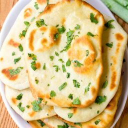 Easy Naan Recipe | ASpicyPerspective.com