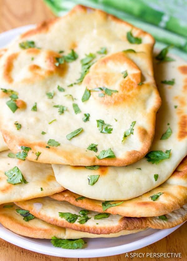 Easy Indian Naan Recipe | ASpicyPerspective.com