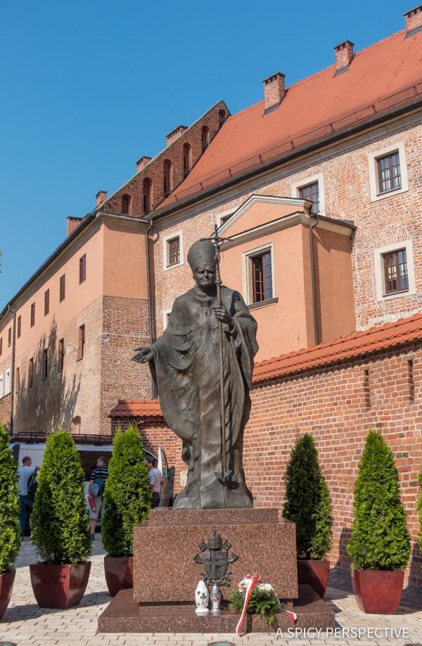 Pop John Paul II - Top 10 Reasons to Visit Krakow, Poland | ASpicyPerspective.com #travel