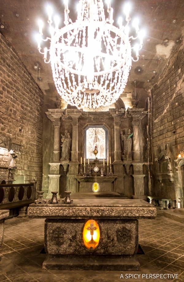 Famous Salt Chapel - Top 10 Reasons to Visit Krakow, Poland | ASpicyPerspective.com #travel