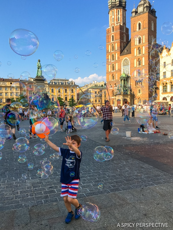 Largest City Square - Top 10 Reasons to Visit Krakow, Poland | ASpicyPerspective.com #travel