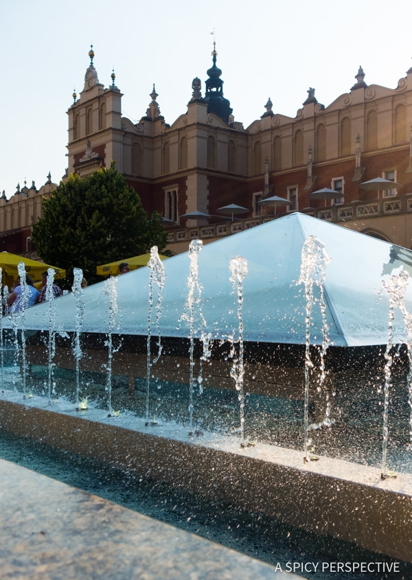 Fountains - Top 10 Reasons to Visit Krakow, Poland | ASpicyPerspective.com #travel