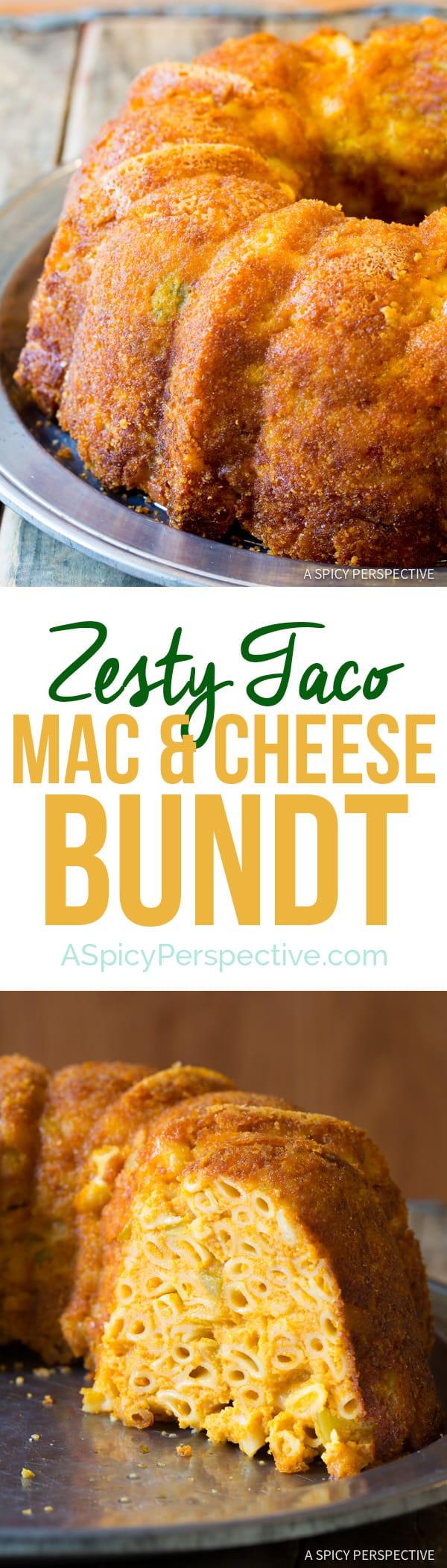 Best Taco Mac and Cheese Bundt Recipe | ASpicyPerspective.com