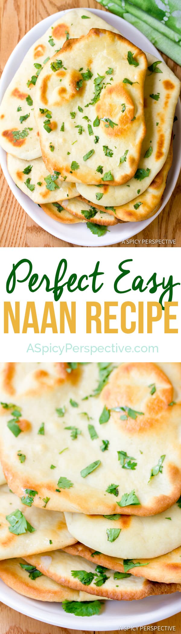 Perfect Easy Naan Recipe | ASpicyPerspective.com