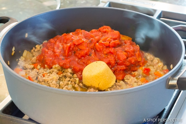 Step 3: One-Pot Sloppy Joe Noodle Skillet (Light & Gluten Free!) | ASpicyPerspective.com