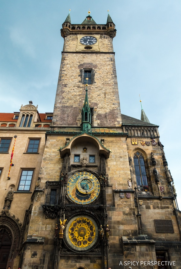 Astronomical Clock - Top 10 Reasons to Visit Prague, Czech Republic | ASpicyPerspective.com #travel #europe