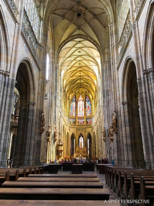 Stunning Saint Vitus - Top 10 Reasons to Visit Prague, Czech Republic | ASpicyPerspective.com #travel #europe
