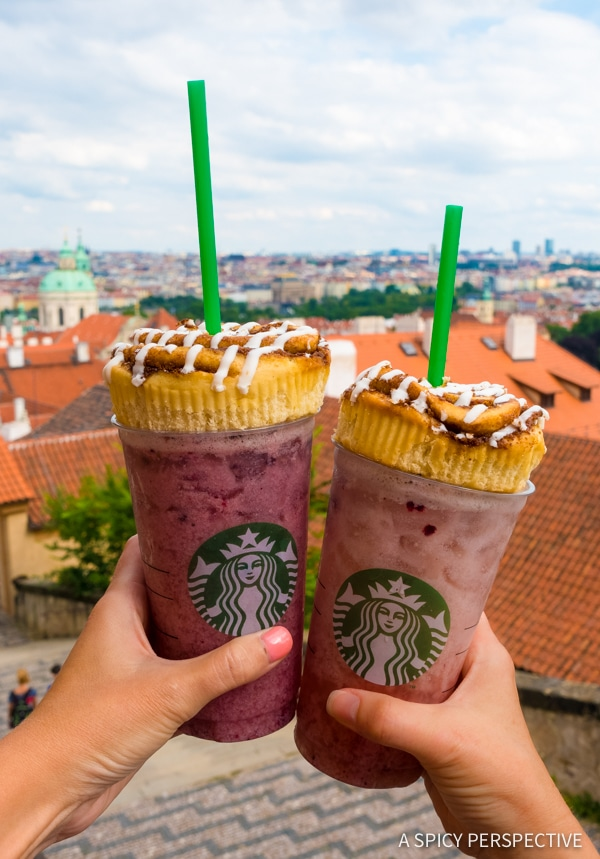 Starbucks - Top 10 Reasons to Visit Prague, Czech Republic | ASpicyPerspective.com #travel #europe