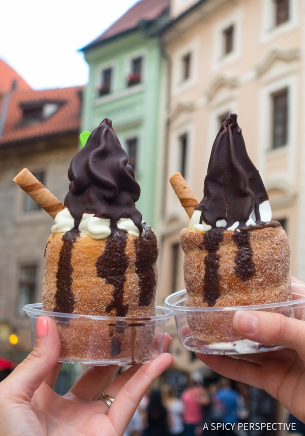 Trdelnik - Top 10 Reasons to Visit Prague, Czech Republic | ASpicyPerspective.com #travel #europe