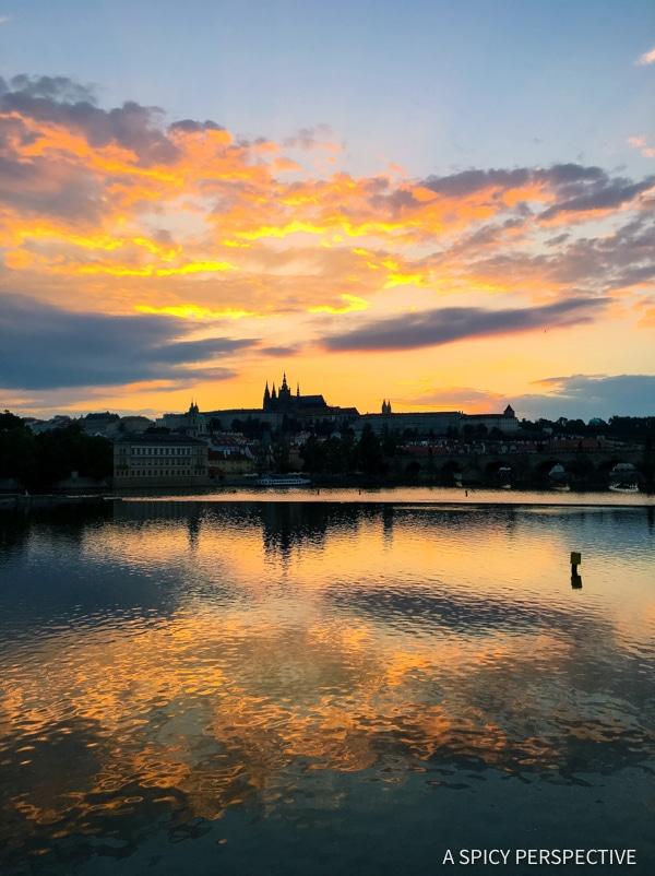 Sunsets - Top 10 Reasons to Visit Prague, Czech Republic | ASpicyPerspective.com #travel #europe