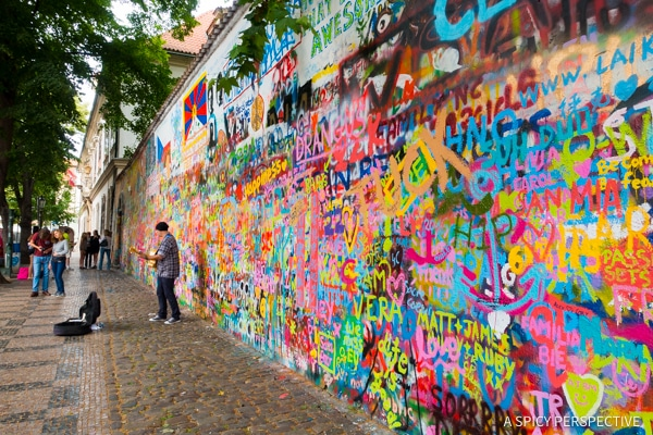 John Lennon Memorial Wall - Top 10 Reasons to Visit Prague, Czech Republic | ASpicyPerspective.com #travel #europe