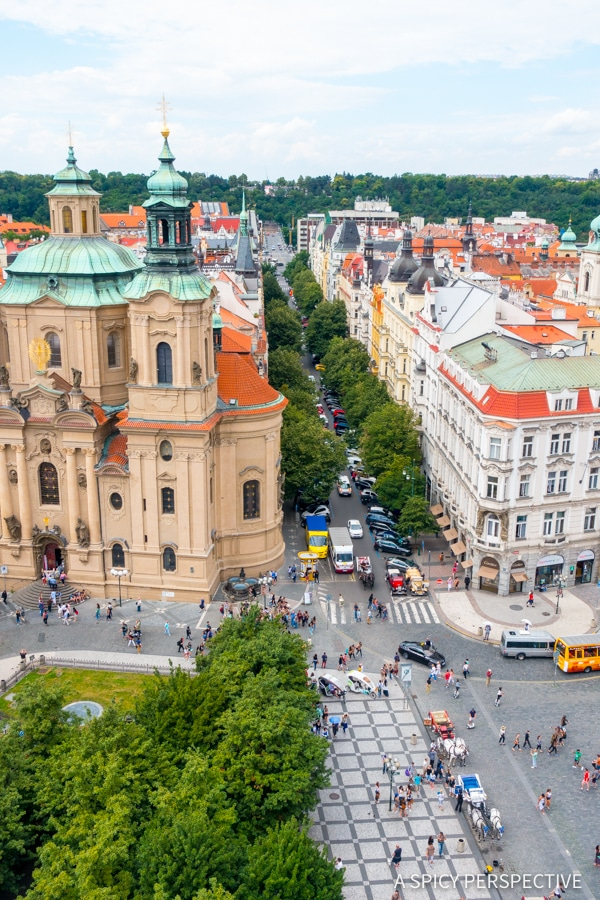 Old Town Tower View - Top 10 Reasons to Visit Prague, Czech Republic | ASpicyPerspective.com #travel #europe
