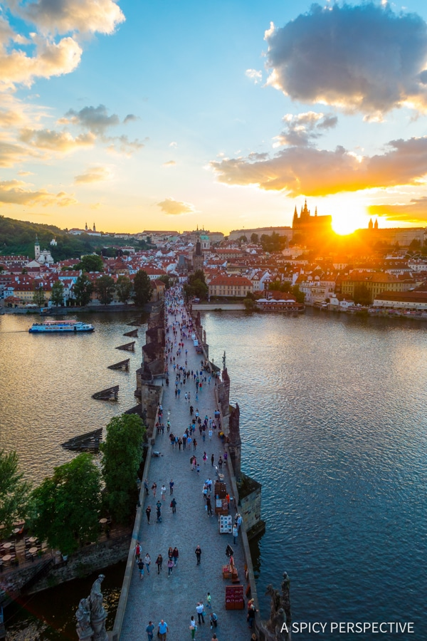 Bridge View - Top 10 Reasons to Visit Prague, Czech Republic | ASpicyPerspective.com #travel #europe