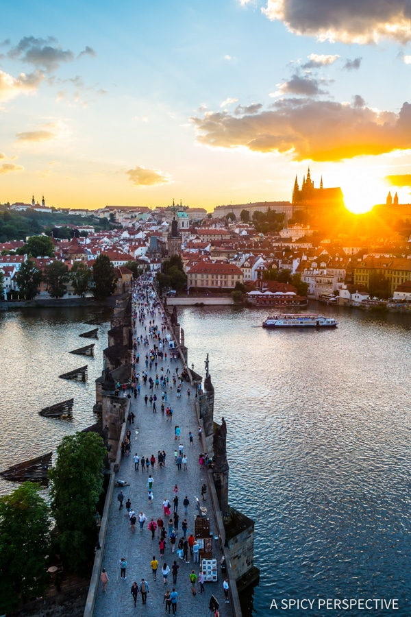 St Charles Bridge View - Top 10 Reasons to Visit Prague, Czech Republic | ASpicyPerspective.com #travel #europe