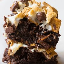 Ultimate S'mores Brownies | ASpicyPerspective.com