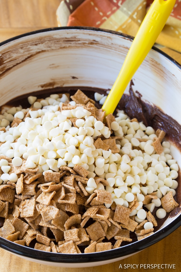Making S'mores Brownies   ASpicyPerspective.com