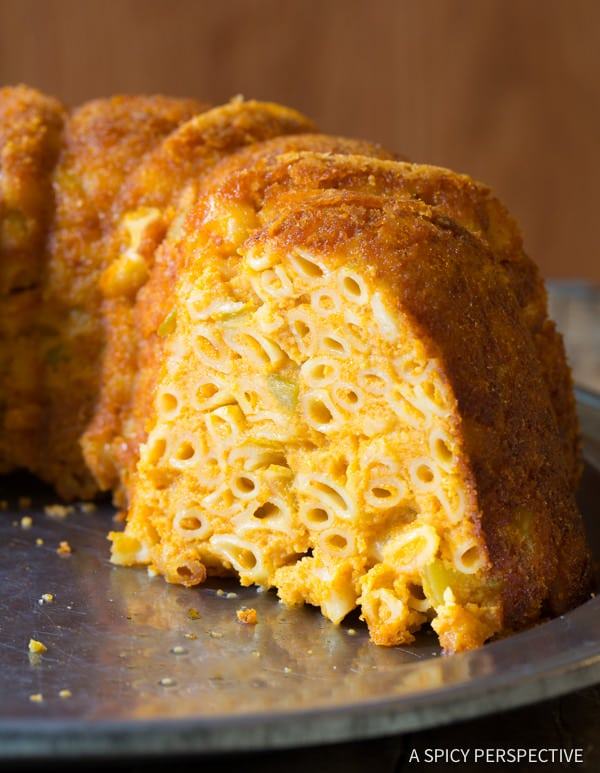 Easy Taco Mac and Cheese Bundt Recipe | ASpicyPerspective.com