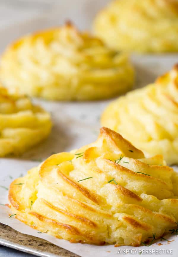 Perfect Duchess Potatoes Recipe | ASpicyPerspective.com