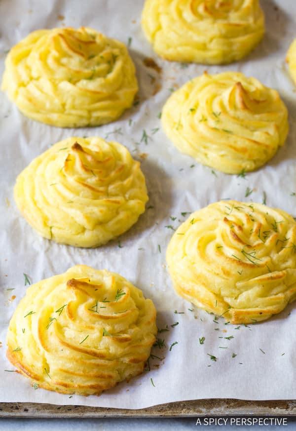 The Best Ever Duchess Potatoes Recipe | ASpicyPerspective.com