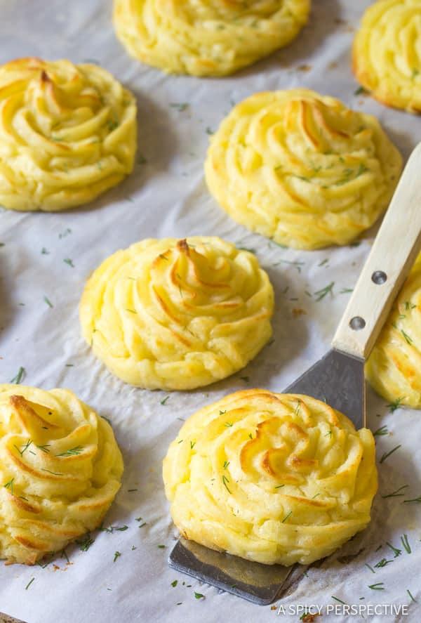 The Best Duchess Potatoes Recipe | ASpicyPerspective.com