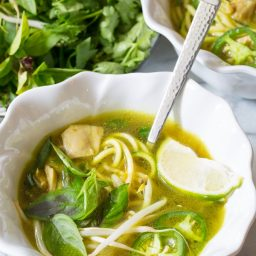 Spicy & Healthy Vietnamese Chicken Pho with Zoodles (Gluten Free & Paleo!)   ASpicyPerspective.com