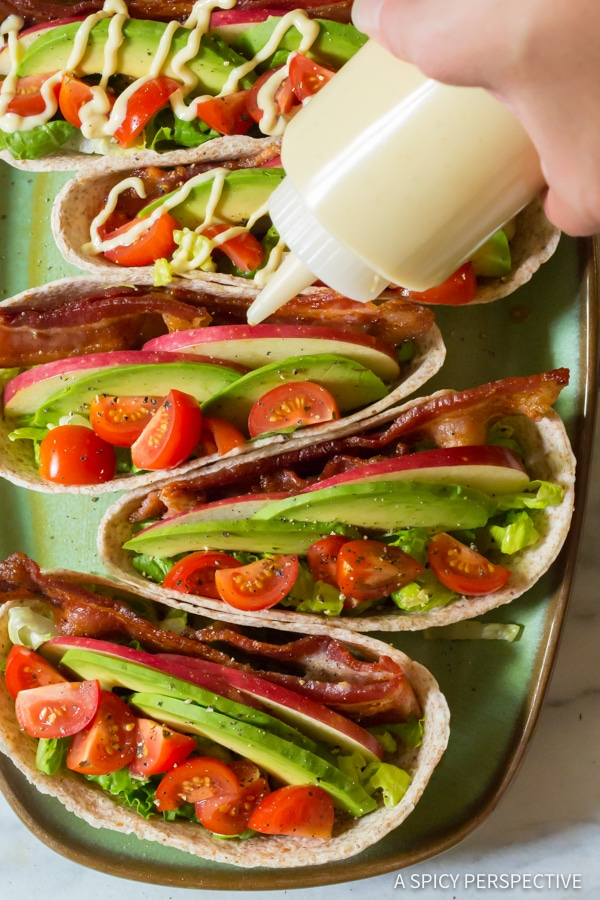 Making Whole Wheat BLT Tacos for Back to School! | ASpicyPerspective.com