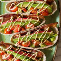 Quick & Healthy Whole Wheat BLT Tacos for Back to School! | ASpicyPerspective.com