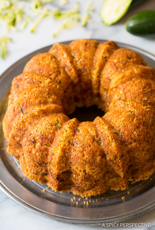 Love this Zucchini Parmesan Bread | ASpicyPerspective.com