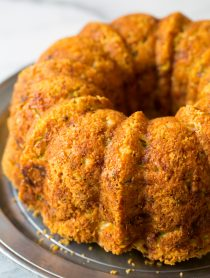 Warm Zucchini Parmesan Bread | ASpicyPerspective.com