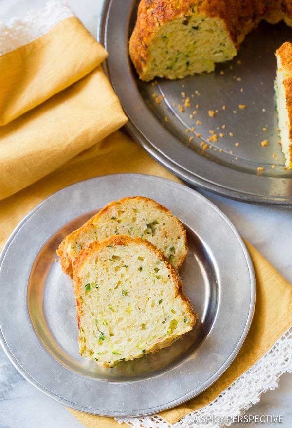 Cheesy Zucchini Parmesan Bread | ASpicyPerspective.com