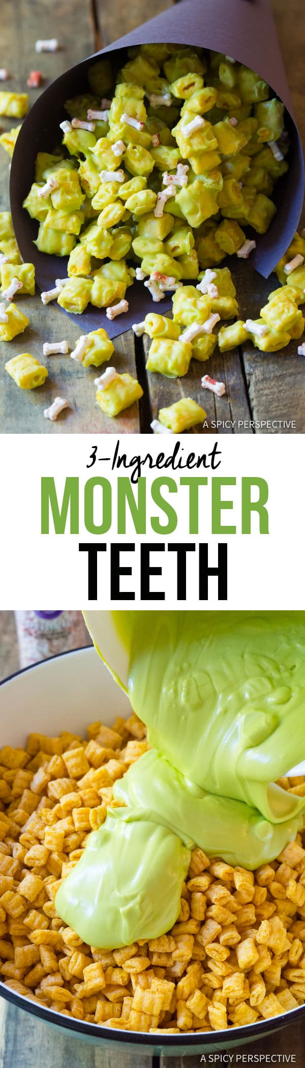 Spooky 3-Ingredient Monster Teeth Recipe for Halloween! | ASpicyPerspective.com