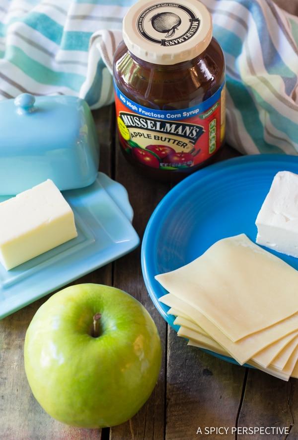 Making 5-Ingredient Apple Pie Cream Cheese Wontons | ASpicyPerspective.com