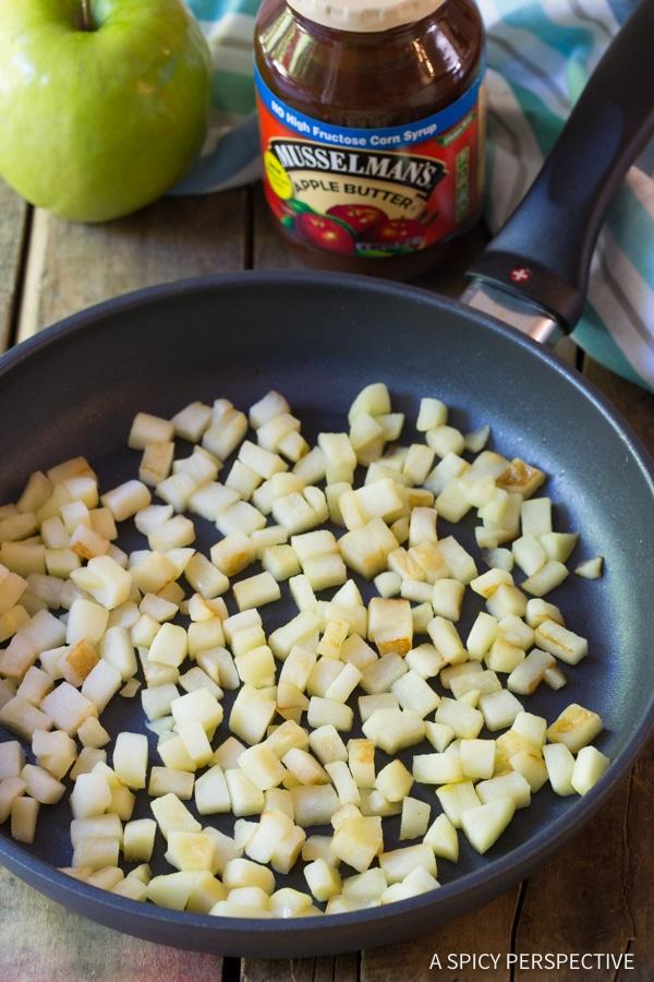 How to Make 5-Ingredient Apple Pie Cream Cheese Wontons | ASpicyPerspective.com