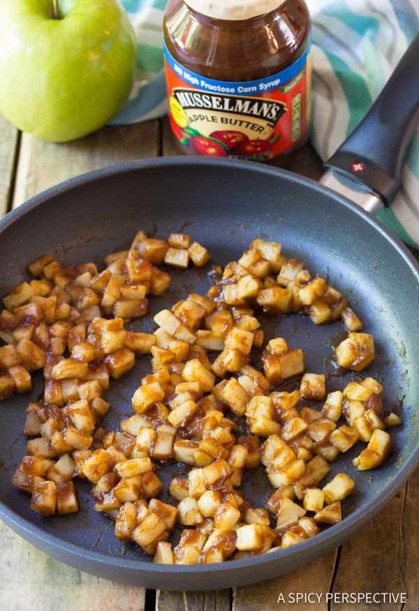 Making Easy 5-Ingredient Apple Pie Cream Cheese Wontons | ASpicyPerspective.com